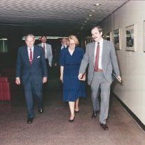 Image of Events at NIH - Visit to the NIH campus by David Rockefeller, 6/1988