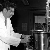 Image of George Glenner finds clues to the cause of amyloidosis, 10/1971