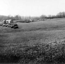 Image of Campus Buildings - Building 3 construction progress, ca.  February 1938