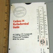 Image of Nuclear-Chicago Corp. Carbon-14 Radiochemcial Guide Slide Chart back