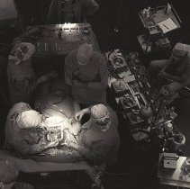 Image of Jerry Hecht Digital Collection - Surgery with personnel and instruments