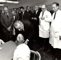 Image of Jerry Hecht Digital Collection - Lyndon Johnson visiting the NIH Clinical Center