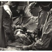 Image of Jerry Hecht Digital Collection - Clinical Center surgical team in operating room