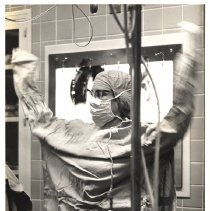 Image of Jerry Hecht Digital Collection - Nina Starr Braunwald readies for surgery