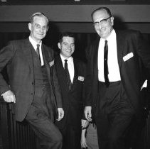Image of Events at NIH - Jack Masur with Stuart Sessoms and Sir Robert Aitken