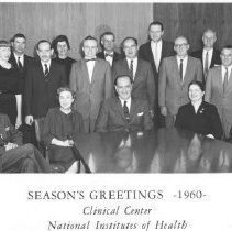 Image of Faces of NIH - Season's Greetings-1960-from the Clinical Center staff