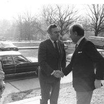 Image of NIH Directors - HEW Secretary Joseph Califano and NIH Director Dr. Donald Fredrickson