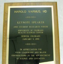 Image of University of Colorado Plaque
