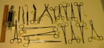 Image of 11.0003.038 - Collection of Surgical Instruments (forceps, clamps, etc.)