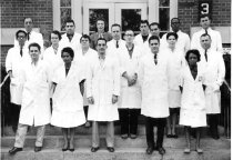 Image of National Heart Lung and Blood Institute - NHI Laboratory of Biochemistry group photograph, 1963
