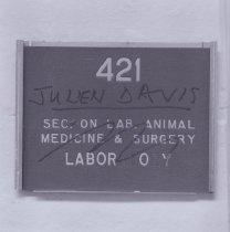 Image of Building 3 Room 421 sign on door