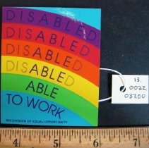 Image of Disabled/Able to Work Pin