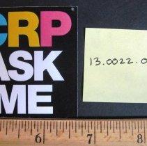 Image of CRP Ask Me Pin