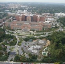 Image of Aerial Views - Aerial NIH Campus: CC and CRC north lobby 2014