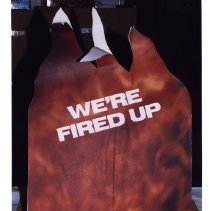 "Image of ""We're Fired Up"" ACT-UP Placard"