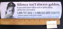Image of NIDCD Silence Isn't Always Golden Bumper Sticker