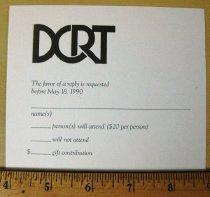 Image of Invitation:  Retirement Celebration for Arnold W. Pratt from DCRT