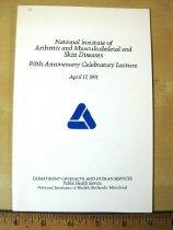 Image of Invitation:  5th Anniversary Celebratory Lecture NIAMS