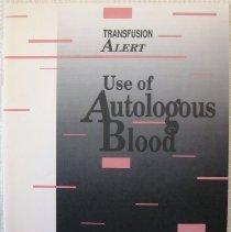 "Image of ""Transfusion Alert: Use of Autologous Blood"""