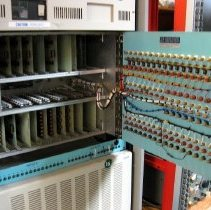 Image of Apparatus for Studying Eye Movement with PDP 11 Computer