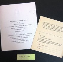 Image of NIH Clinical Center Dedication Invitation July 2, 1953