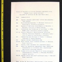 Image of NIH Clinical Center Tour Itinerary July 1953 back cover