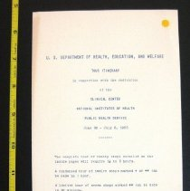 Image of NIH Clinical Center Dedication Tour Itinerary, June 28-July 2, 1953