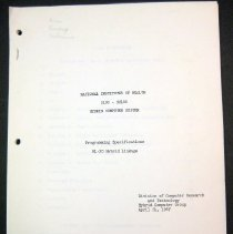 Image of Control Data Corporation (CDC) / DCRT Hybrid Manuals .01 cover