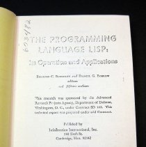 Image of LISP (List Processing) Programming Language .01.title