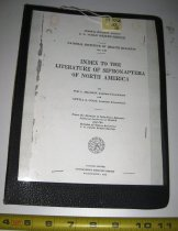 """Image of Book:  """"Index to the Literature of Siphonaptera of North America"""""""
