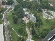 Image of Aerial Views - Aerial of NIH Campus:  Stone House Fogarty Center 2014