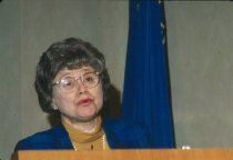 Image of NIH Directors - Ruth Kirschstein at the AIDS and the Public Debate Conference