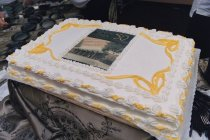 Image of Clinical Center 50th Anniversary cake