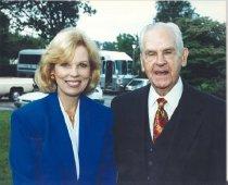 Image of NIH Director Bernadine Healy and William H. Natcher