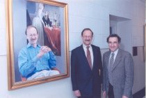 Image of Harold Varmus portrait unveiling