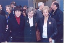 Image of Varmus portrait unveiling, Dr. Ruth Kirschstein and ohers