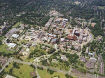 Image of Aerial view of NIH with Rockville PIke shown