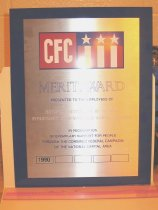 Image of 90.0005.040 - Combined Federal Campaign (CFC) Merit Award Plaque, 1990