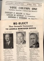 Image of Campaign flyers 1950s