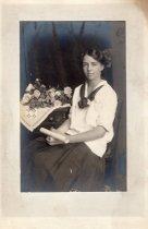 Image of 2006.183.14 - Teenage girl, early 20th century, holding diploma