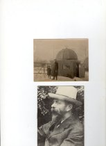 Image of 2006.183.73 - Ernest Yalden at his Leonia observatory, eclipse of  1925