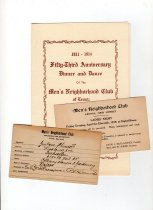 Image of Ladies Night (1919),Membership card (1920), dinner (1964)