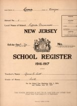 Image of School Register of Anna C. Scott, 1916-1917