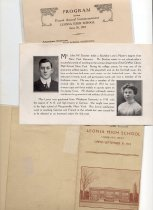 Image of Commencement program(1918)faculty pamphlet(1913)flyer(1912)