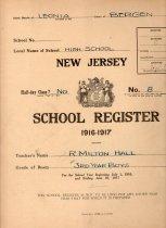Image of High school register of Milton Hall (1916-1917)