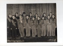 Image of Boy Scout merit badges ceremony 1957
