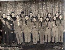Image of 2006.4.2.10.2 - Boy scouts receive merit badges, 1957.