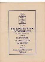Image of Leonia Civic Conference folder 1939