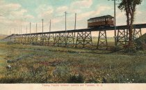 Image of 2014.1.17 - Trolley on the Overpeck Trestle circa 1909