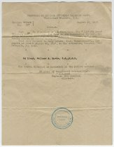 Image of Travel Authorization Document of Wallace Howes